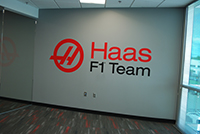 Haas Formula 1 Racing Wall Sign