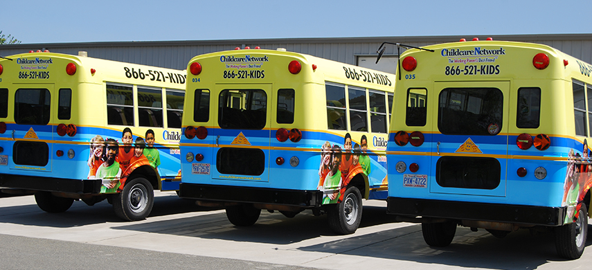 Child Care Network Buses